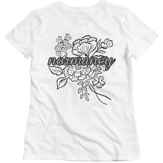 normancy t-shirt (back)