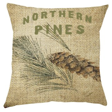 Northern Pines Christmas Pillow Cover
