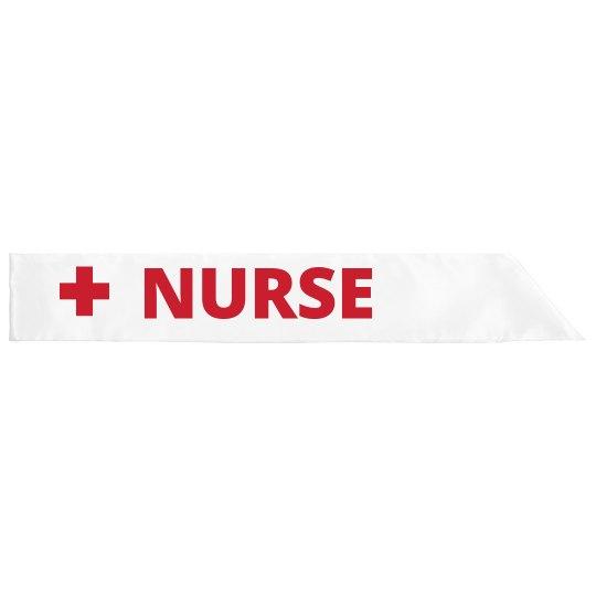 Nurse Costume Halloween Sash
