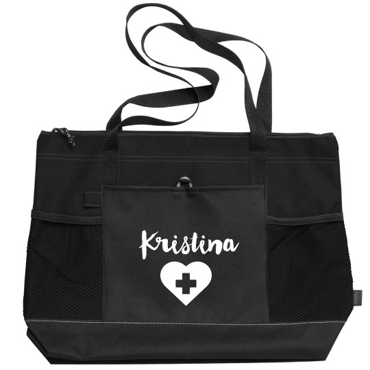 Nurse Customizable Name Cute Nursing Tote Bag