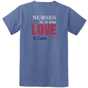 Nurse Love Scrub Top
