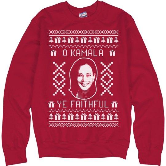 O Kamala Ye Faithful Christmas Sweater