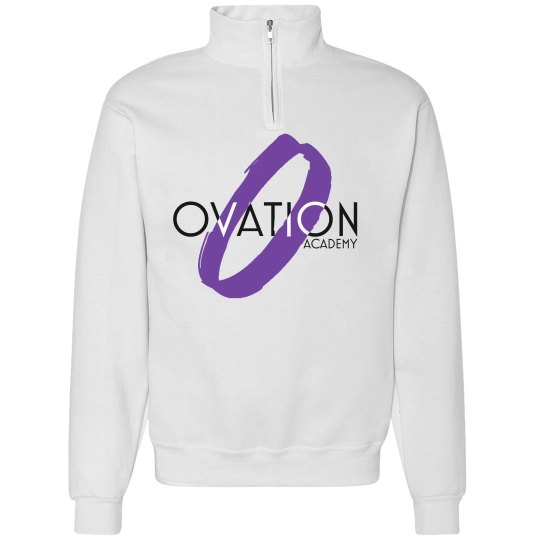 O Quarter Zip White