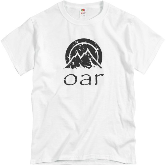 OAR distressed black logo