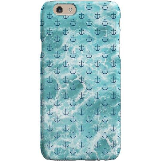 Ocean Anchor Print iPhone Case