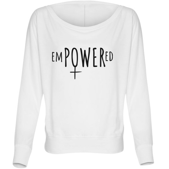 Off the shoulder empowered shirt