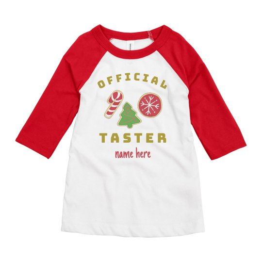 Official Cookie Taster Custom Tee