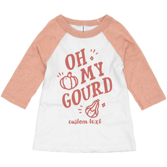 Oh My Gourd Toddler Raglan