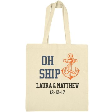 Oh Ship Nautical Wedding Tote Bag