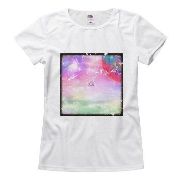 Ohm Galaxy Island Tshirt cracked