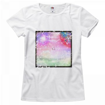 Ohm Galaxy Island Tshirt cracked