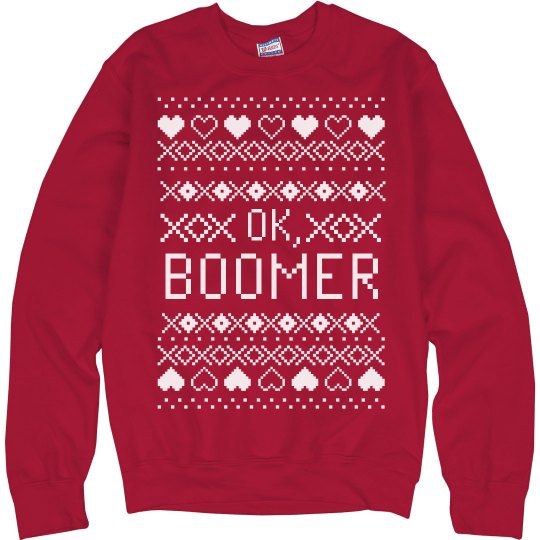 OK, Boomer Funny Ugly Sweater