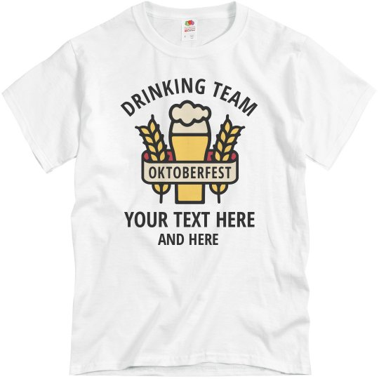Oktoberfest Drinking Team Group Tee