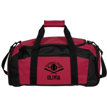 Olivia. Baseball bag