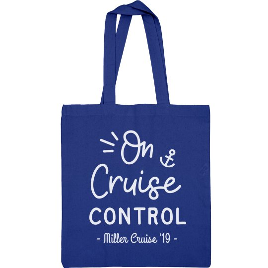 On Cruise Control Custom Family Vacation Tote Bag