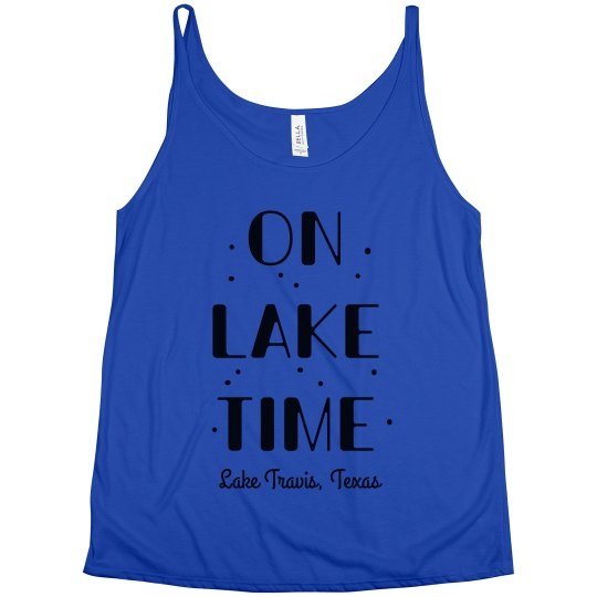 On Lake Time Summer Vacation Tank