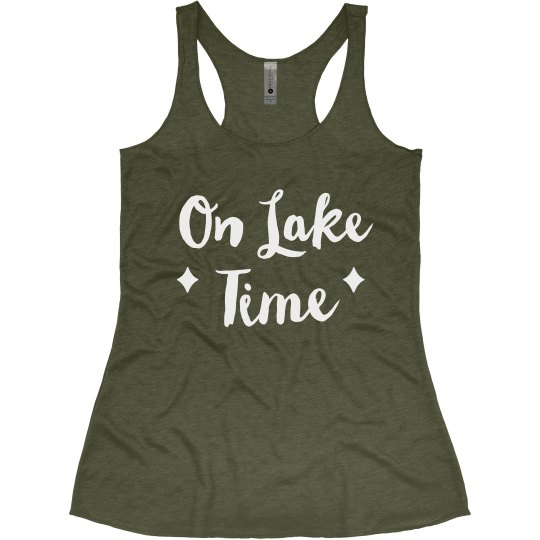 On Lake Time Summer Vacation Trip Tank