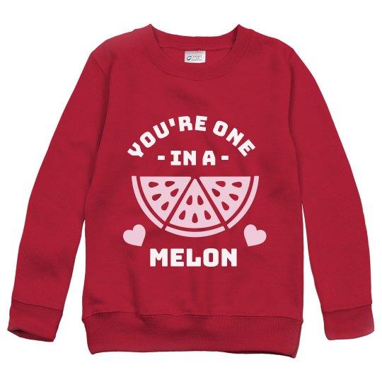 One in a Melon Kids Sweatshirt