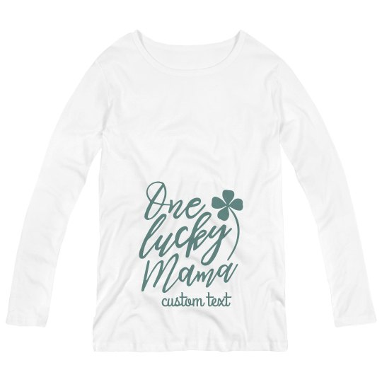 One Lucky Mama Customizable Maternity St. Patrick's Day