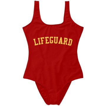 One Piece Red LIFEGUARD