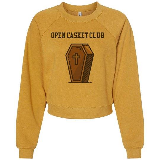 Open Casket Club Cropped Sweater