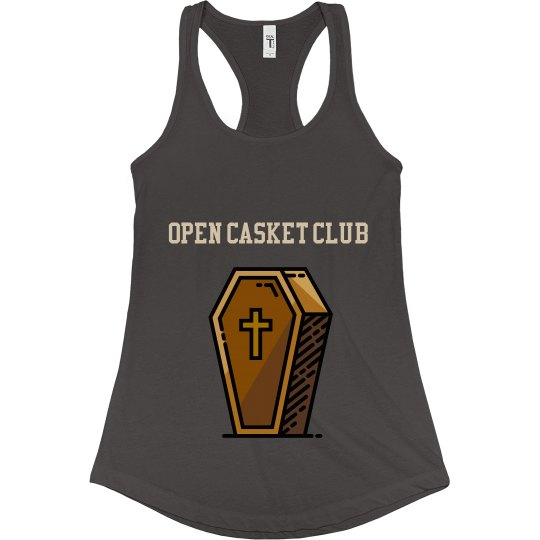 Open casket club flowy tank