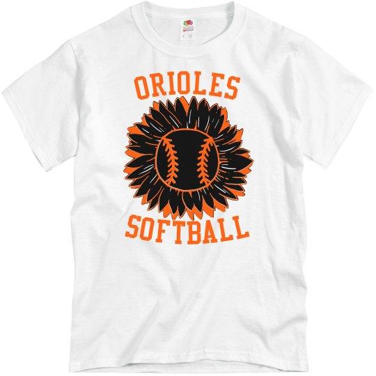 Orioles Softball Sunflower