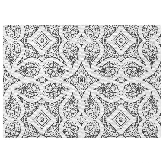 Ornate Floral Print Rug