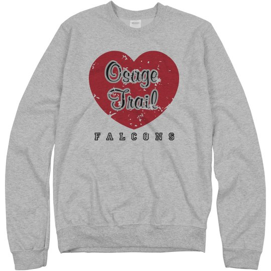 OTMS Gray Heart Sweatshirt
