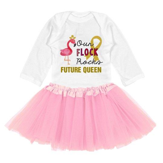 Our Flock Rocks Infant Dress