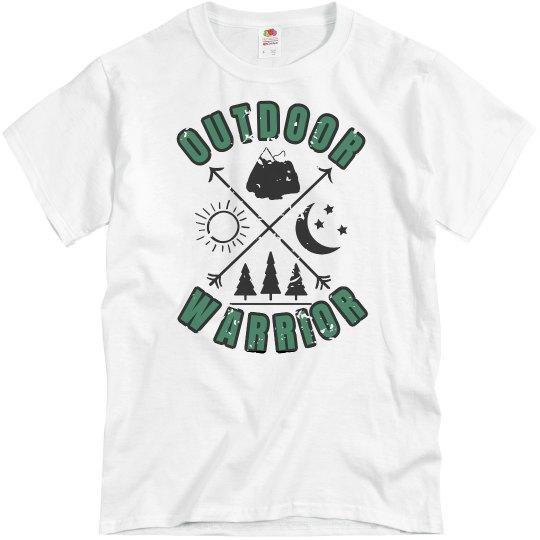 Outdoor Warrior unisex green distressed