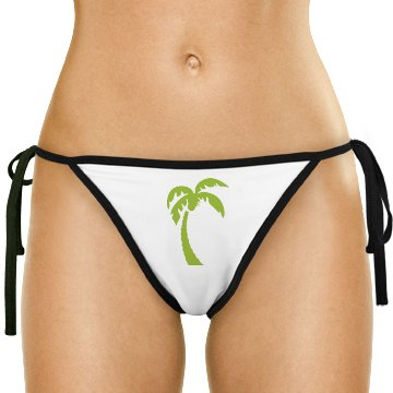 Palm tree bathing suit bottoms