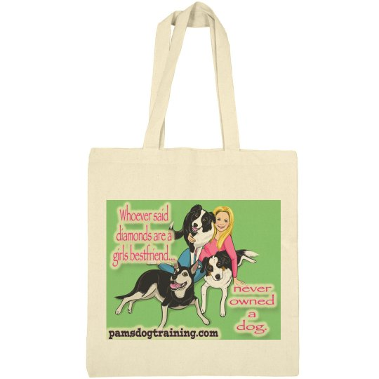 Pam's dog academy tote bag mini