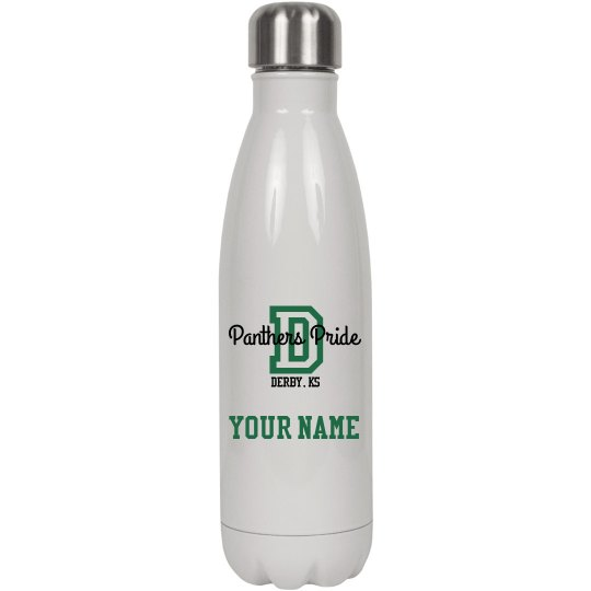 Panther Pride Water Bottle. Personalized
