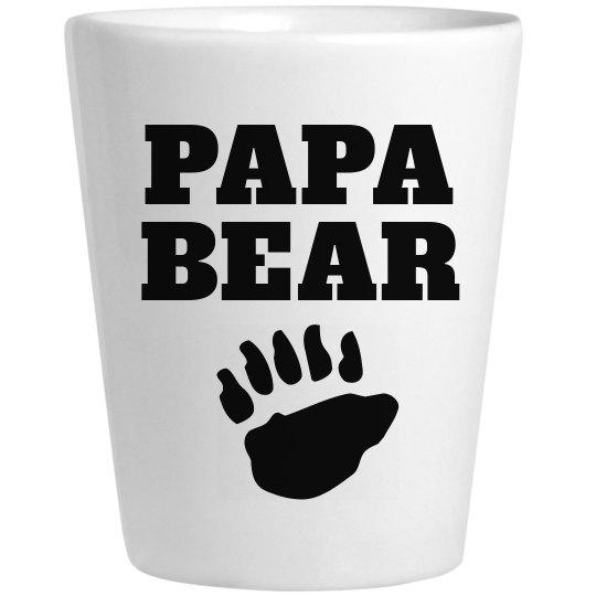 Papa Bear Father's Day Shot Glass