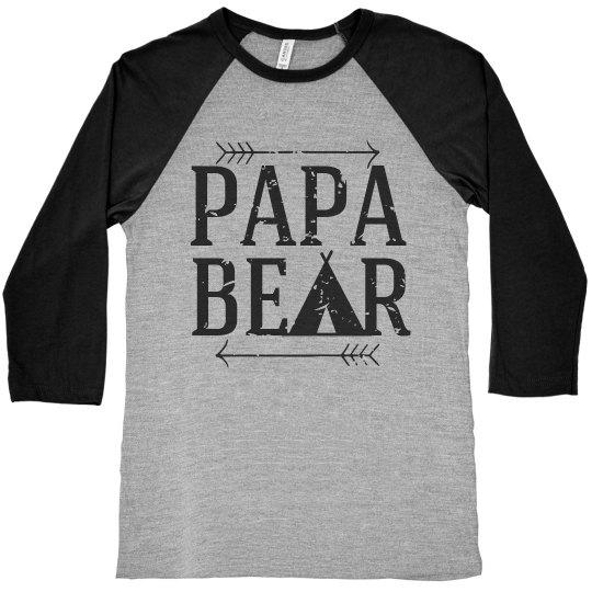 Papa Bear Raglan Tee