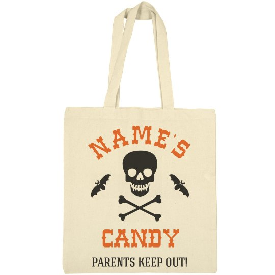 Parents Keep Out Trick Or Treat Bag