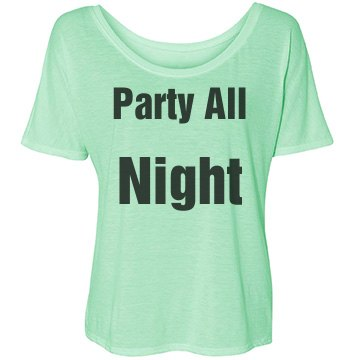 Party all night tee