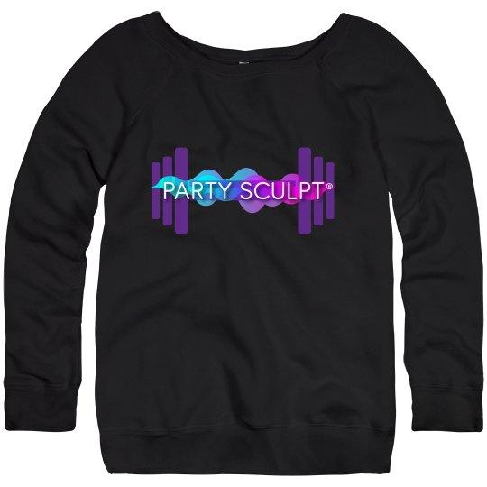 Party Sculpt Wide Neck Sweatshirt
