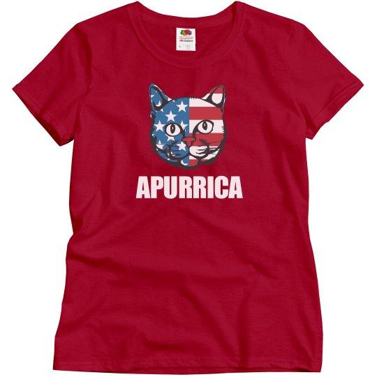 Patriotic Apurrica America Cat