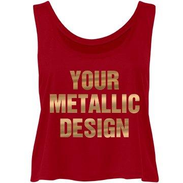 Patriotic Custom Metallic Gold Text
