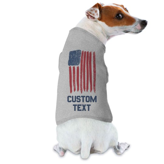 Patriotic Dog Fourth of July Custom