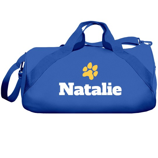 Paw Mascot Art Custom Sports Bag With Custom Name