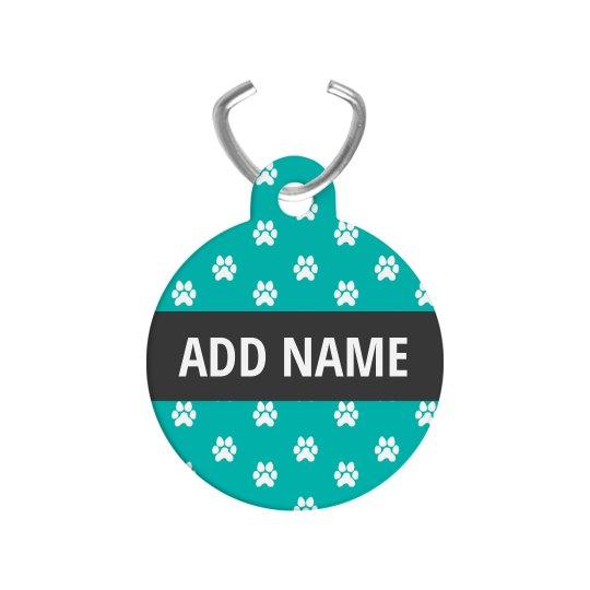 Paw Print Custom Pet Name