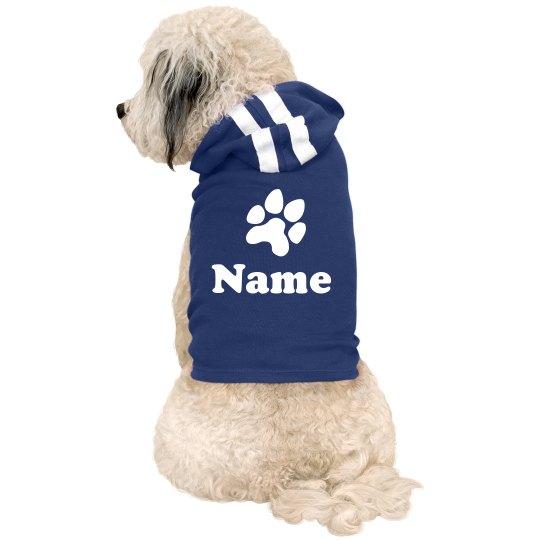 Paw Print Custom Pet Name Gift