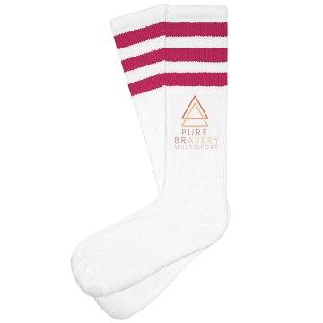 PB Striped Knee Socks