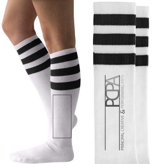 PCPA - Blk & Wht Striped Socks