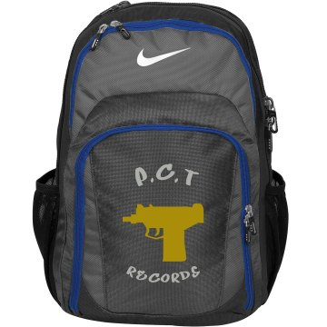 P.C.T Records golden uzi Nike bag