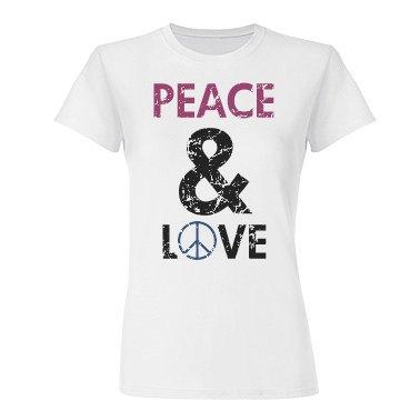 Peace & Love Distressed