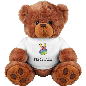 Peace Dude - Teddy Bear